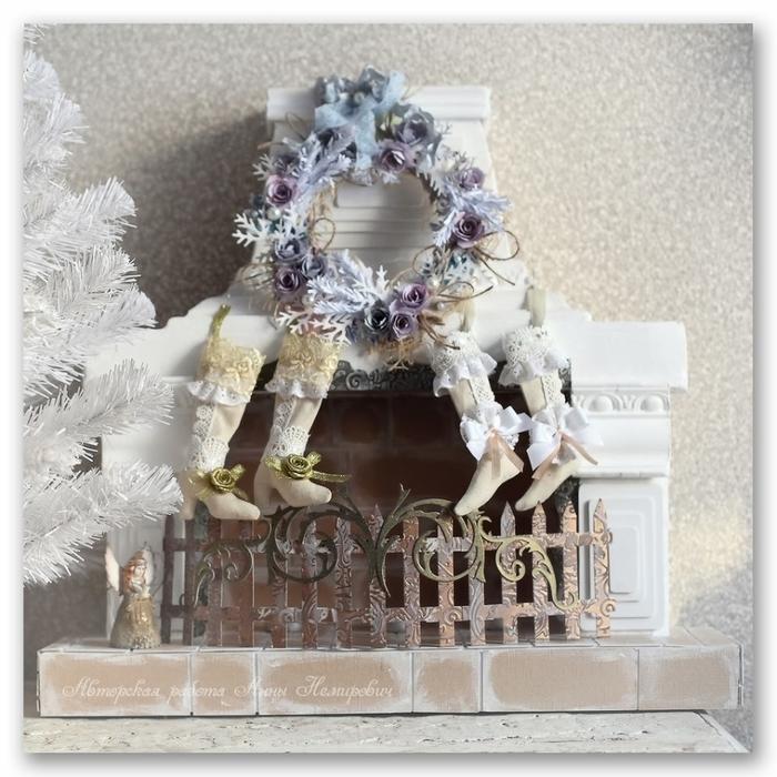 Botas de Navidad estilo shabby chic (9) (700x700, 312Kb)
