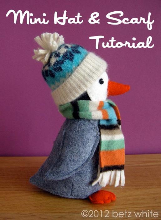 Шапочки для пингвинов из рукавов старого свитера (10) (514x700, 244Kb)