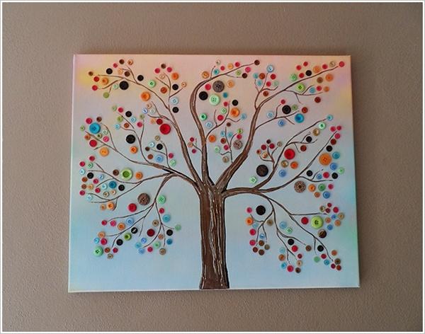 Дерево своими руками из ткани фото