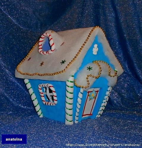 Зимние сказочные домики своими руками 24