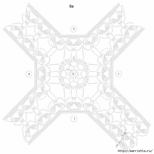 Crochet.  Mantel y recortar los bordes (5) (535x535, 128 Kb)