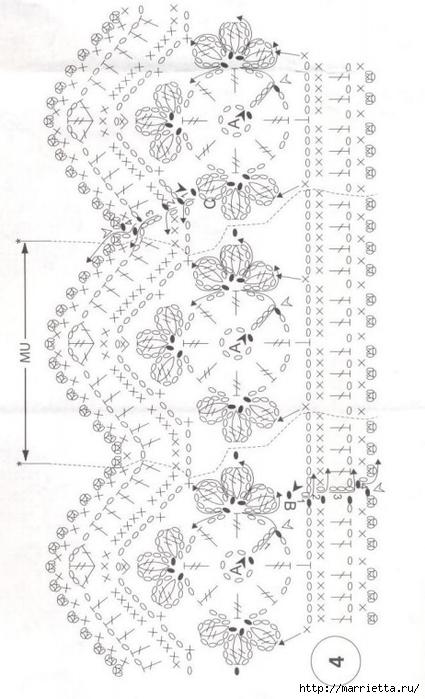 Crochet.  Mantel y recortar los bordes (11) (425x700, 189Kb)