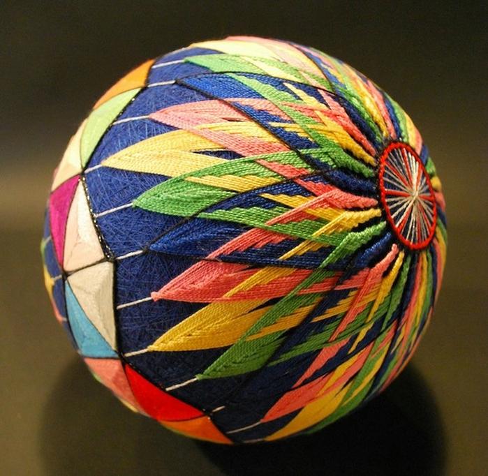японские шары темари фото 3 (700x682, 359Kb)
