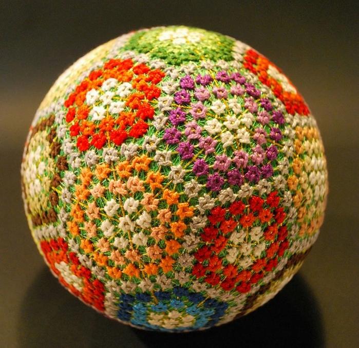 японские шары темари фото 7 (700x677, 390Kb)
