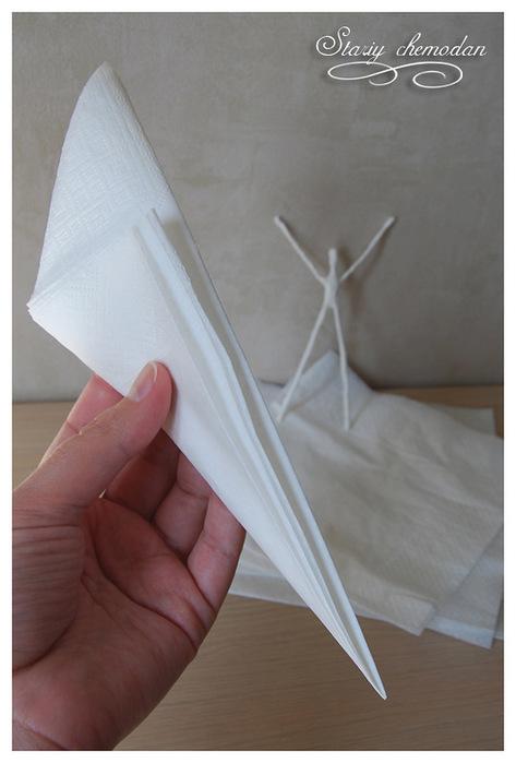 бумажная балерина-снежинка на елку