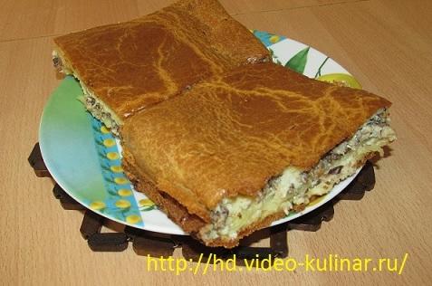 Пирог рыбный из консервов (477x316, 128Kb)