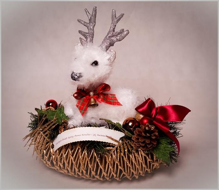 Рождественский СЕВЕРНЫЙ ОЛЕНЬ из папье маше. Мастер-класс (17) (700x608, 228Kb)