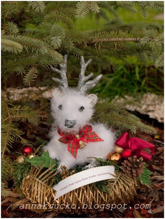 Рождественский СЕВЕРНЫЙ ОЛЕНЬ из папье маше. Мастер-класс (21) (526x700, 310Kb)