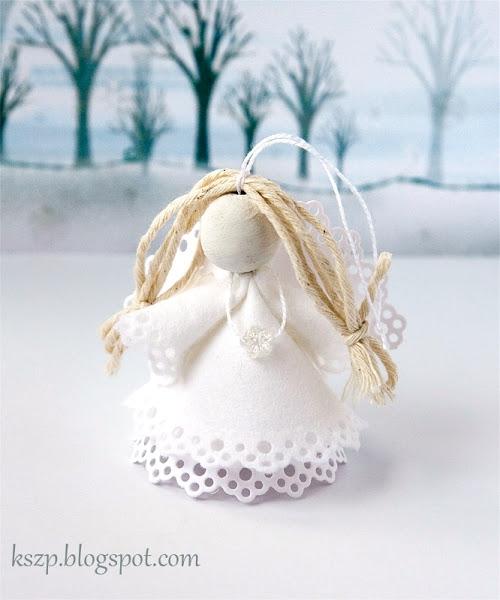 Рождественский ангел из бумаги и фетра. Фото мастер-класс (18) (500x600, 141Kb)