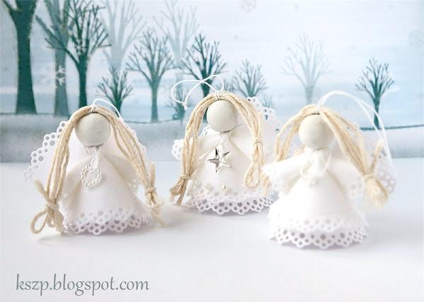Рождественский ангел из бумаги и фетра. Фото мастер-класс (20) (600x428, 136Kb)