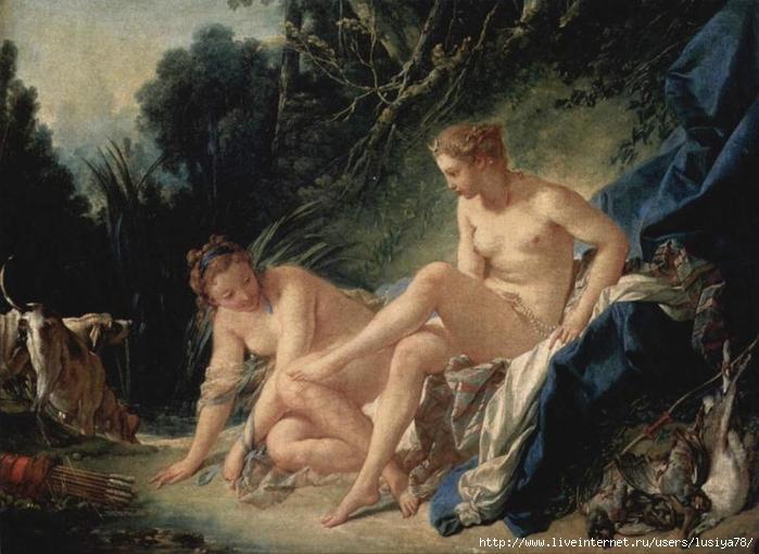 Франсуа-Буше--Купание-Дианы (700x511, 249Kb)