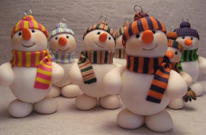 Парад снеговиков. Лепка (3) (700x460, 212Kb)