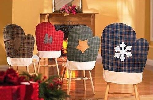 Новогодние чехлы на стулья своими руками фото