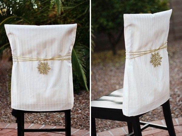 Украшение стульев к новому году своими руками