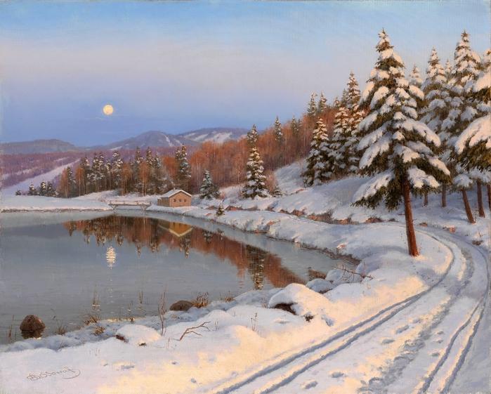 BESSONOV, BORIS  Moonlit Lake (700x561, 308Kb)