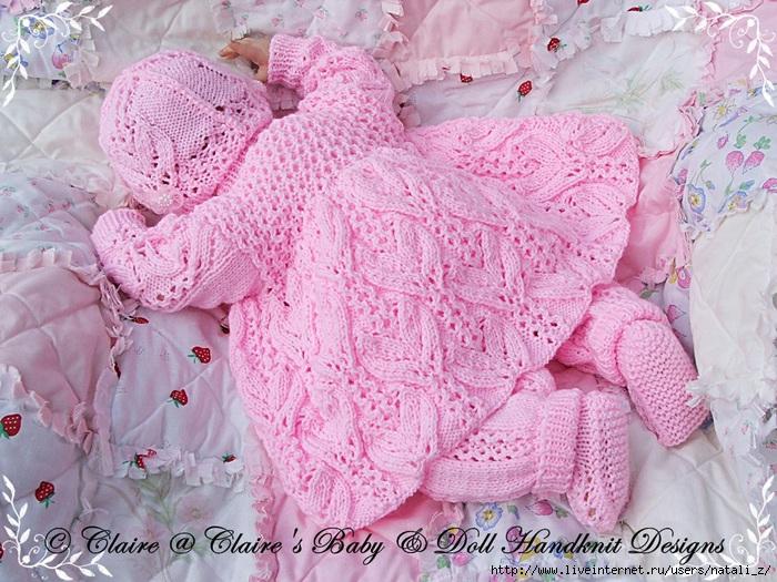 Вязание для новорожденных девочек мастер класс