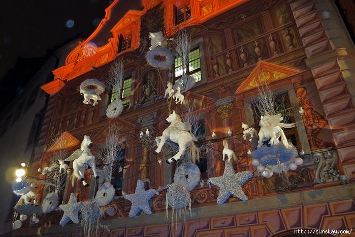 Ночь, Страсбург, Рождество (700x466, 313Kb)