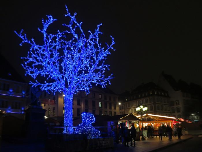 Ночь, Страсбург, Рождество (700x525, 463Kb)