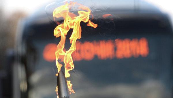 маршрут передвижения Олимпийского огня