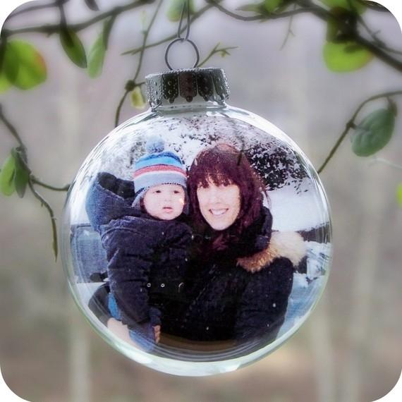 Фото в новогоднем шаре своими руками