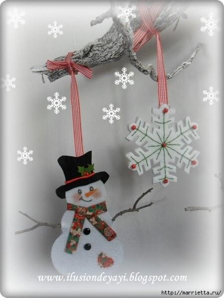 Снежинки и снеговики из фетра (5) (450x600, 119Kb)
