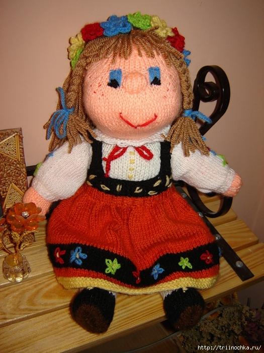 Маша и медведь кукла вязанная