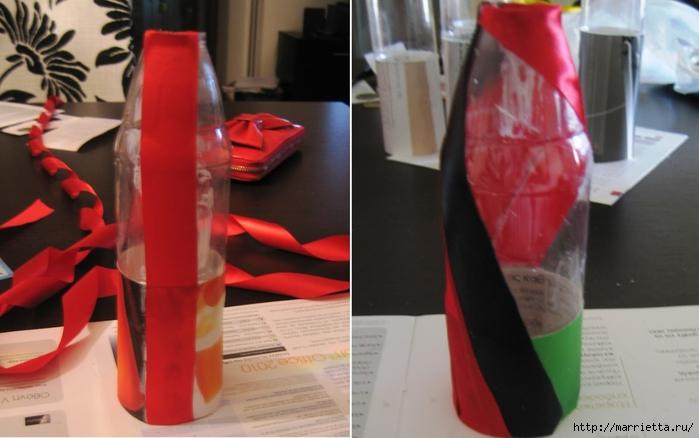Вазочки из бутылок и украшение стен рулончиками от бумажных полотенец (17) (700x438, 194Kb)