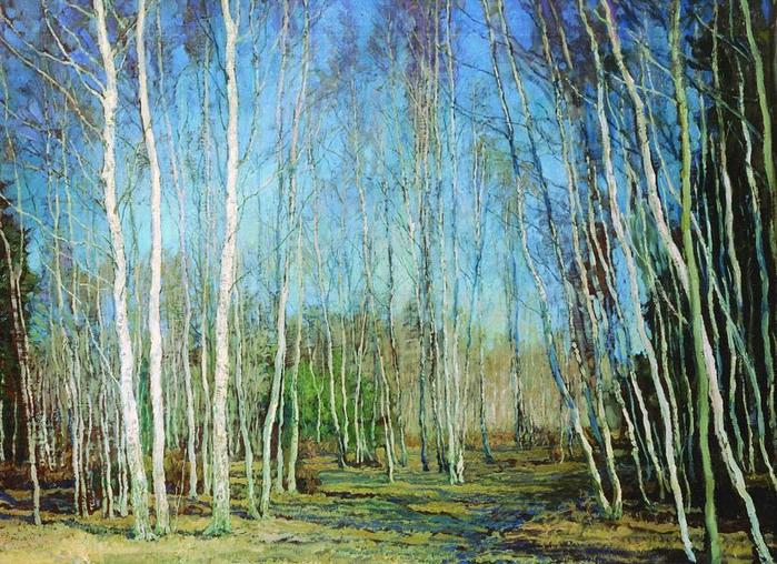Голубая весна. 1930. Дерево.М. 44x57 (ГТГ). (700x508, 213Kb)