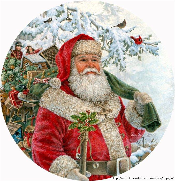 Картинки для декупажа новый год круглые