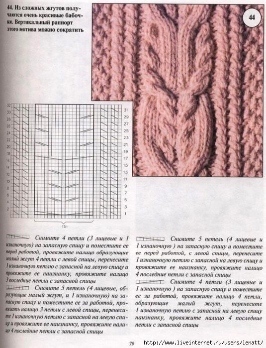 Образцы вязания жгутов и кос спицами схемы с описанием
