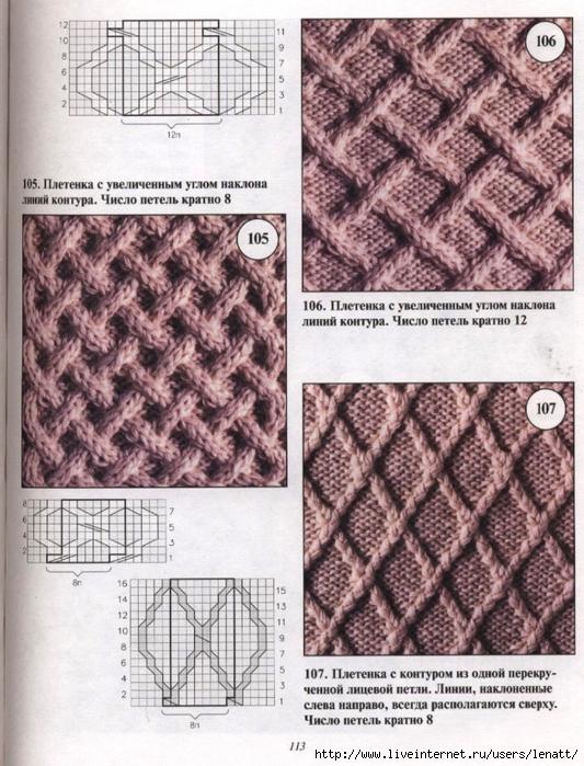 Вязание спицами плотные узоры схемы с описанием 42