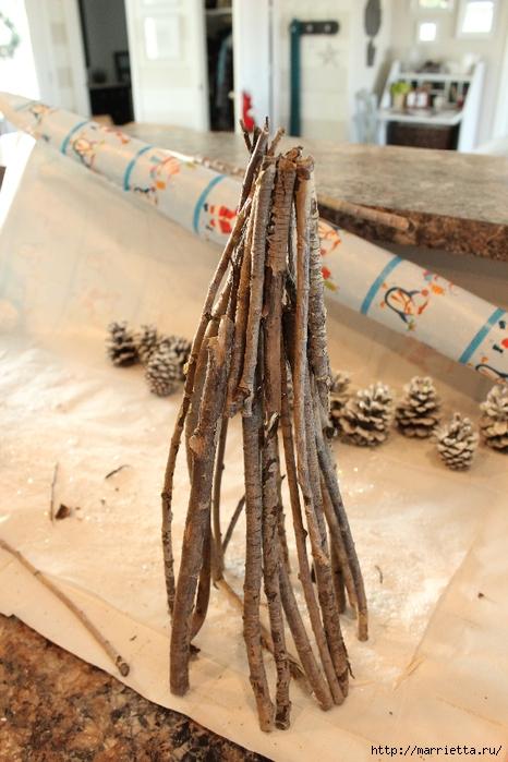 Веточки деревьев для рождественского декора (15) (466x700, 268Kb)