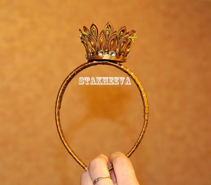 Корона на ободке сделать своими руками