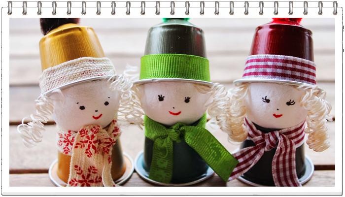 Очаровательные ангелы из кофейных капсул
