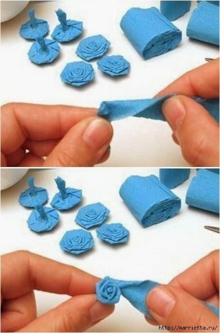 цветы из креповой бумаги для елочного шара (4) (451x682, 139Kb)