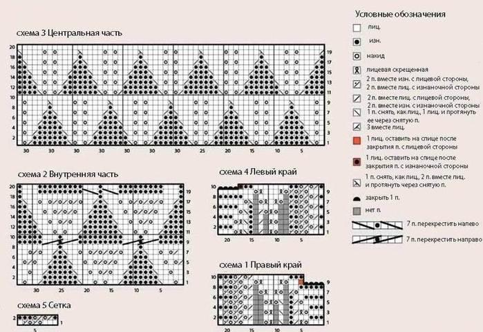 Вязание пледа со схемами 103