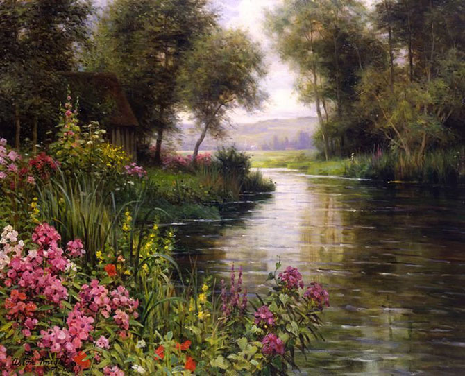 Famous flower garden paintings