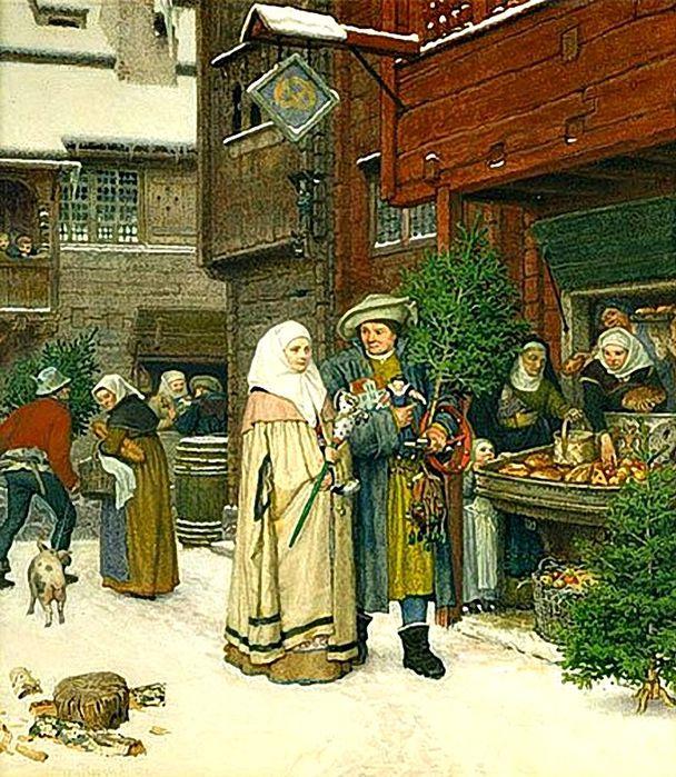 1Georg von RosenThe Christmas Fair1872 (608x700, 125Kb)