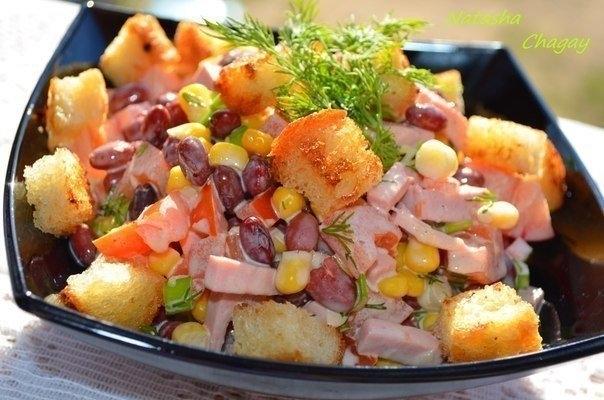 салат с фасолью (604x400, 158Kb)