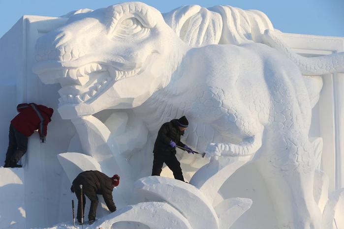 ледяные скульптуры харбина фото (700x466, 273Kb)
