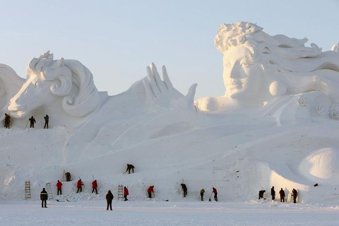 ледяные скульптуры харбина фото 4 (700x466, 224Kb)