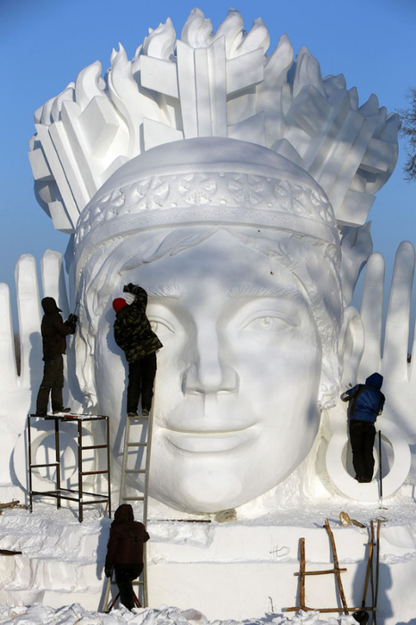ледяные скульптуры харбина фото 6 (466x700, 302Kb)