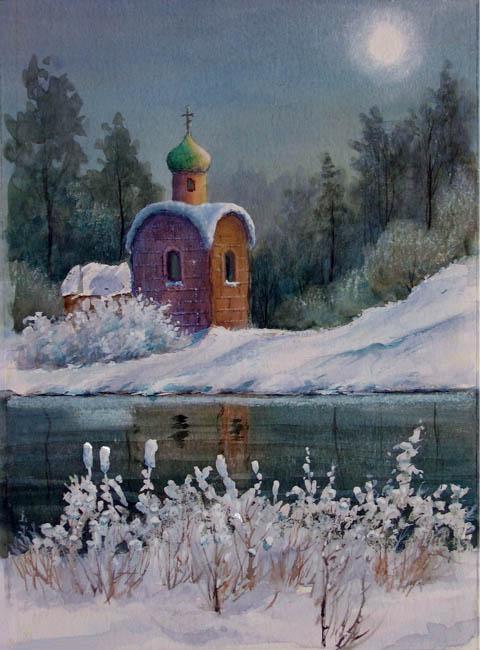 Таврин Юрий. Тихая ночь. 2009 (480x650, 87Kb)
