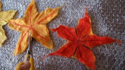 Цветы в технике мокрого валяния из шерсти. Фото мастер-класс (10) (480x272, 120Kb)