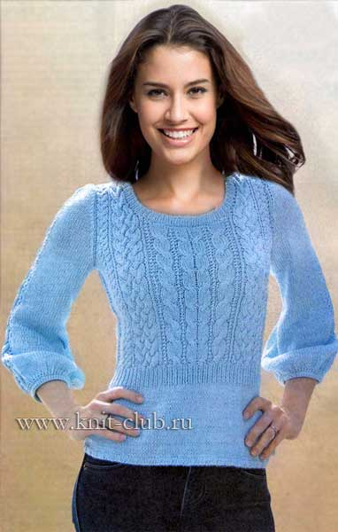 Пуловер вязать женский