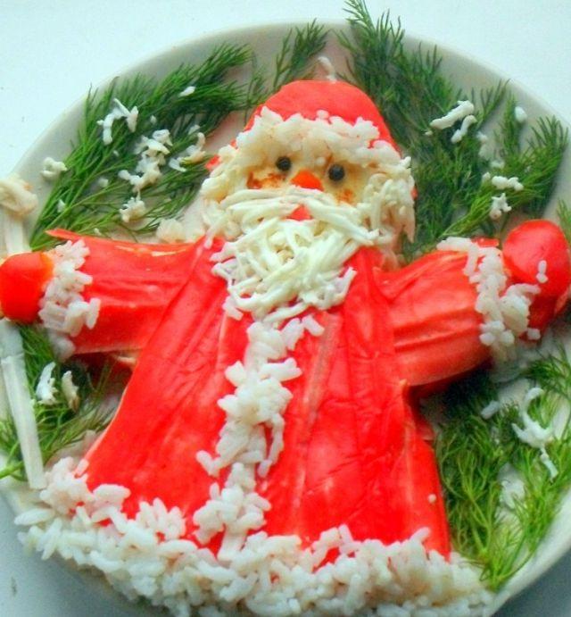 Рецепты салата дед мороз с фото