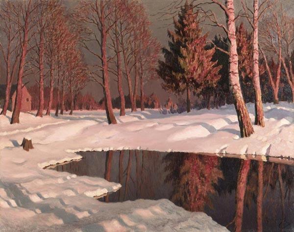 Гермашев М.М. Зимнее озеро (600x472, 168Kb)