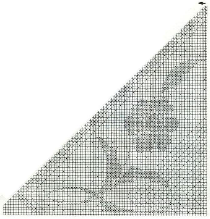 【转载】方格花钩针披肩(16) - 荷塘秀色 - 茶之韵