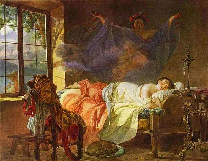 1Брюллов Карл Павлович 1799-1852. Мечты девушки перед восходом солнца. 1833 (700x543, 83Kb)