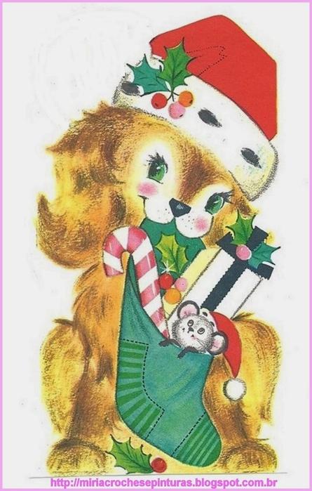 Винтажные картинки и идеи для создания подвесок, тэгов и рождественских гирлянд (5) (445x700, 211Kb)